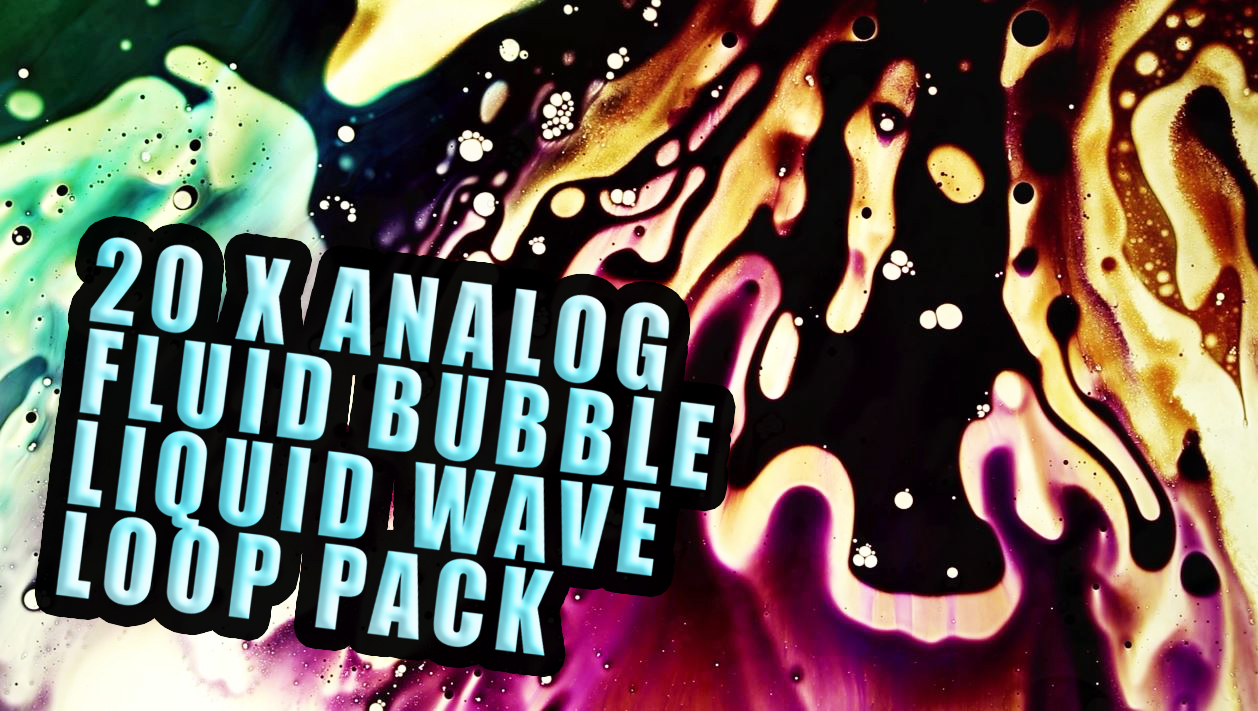 analog fluid bubble liquid wave loop pack
